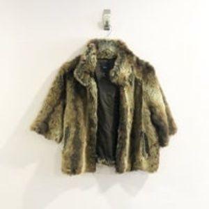Forever 21 Faux Fur Brown Jacket Sz S